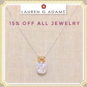 🆕 LAUREN G. ADAMS 14k/SS Sim Diamond Necklace NWT